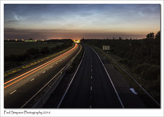 Night Sky in mid Summer (Paul Simpson Photography) Tags: longexposure sky june night clouds motorway lincolnshire nighttime nightsky nlc scunthorpe noctilucentclouds nlcs photosof imageof photoof m181 imagesof sonya77 paulsimpsonphotography june2016