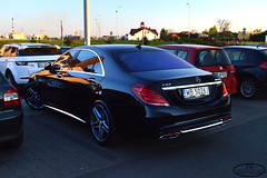 Mercedes-Benz S 63 AMG W222 (Dominik Bytner) Tags: street sunset sun black sport photography mercedes nikon purple parking poland polska automotive exotic german mercedesbenz polarized luxury rare schwarz limousine v8 amg biturbo carspotting s63 inowroclaw d3200 inowrocaw w222