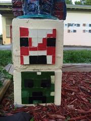 Totem base (giveawayboy) Tags: sculpture project tampa community ceramics cement totem hubert creeper totems recreationcenter nhas mooshroom westshorepalms hubertstreet minecraft northhubertartstudio kidscreate2015