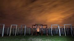 Beginning of summer (diwan) Tags: nightphotography light sky night clouds canon germany geotagged deutschland eos licht google view nacht outdoor himmel wolken dunkel plugins lightroom langzeitbelichtung longexposures 2015 saxonyanhalt sachsenanhalt rekonstruktion nachtaufnahmen pmmelte kreisgrabenanlage salzlandkreis canoneos650d sigma1020mmf4056exdc viveza2 nikcollection usererpfostenring innererpfostenring rubinienstmme kleinstonehenge pmmeltezackmnde ortsteilbarby kultssttte geo:lon=11799456 geo:lat=51997170