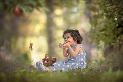 Of all life's seasons. (Zaki :)) Tags: love apple girl childhood colours seasons