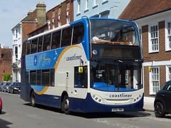 Stagecoach South 15599 (GX10 HBH) Chichester 28/6/16 (jmupton2000) Tags: gx10hbh alexander dennis enviro 400 scania coastliner 700 stagecoach south uk bus coastline southdown sussex