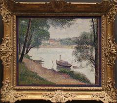 Georges Seurat - Gray Weather Grande Jatte 1886-88 (ahisgett) Tags: new york art museum met metropolitian