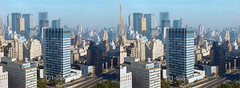 1960s-2 (cobravictor) Tags: 3d 3dstereo stereoscopic stereopair skyline skyscrapers newyorkcity ny midtownmanhattan crosseye crossview