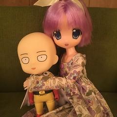 Saitama & Tsukasa (Ringochan39) Tags: doll saitama luckystar obitsu nendoroid mamachapp tsukasahiiragi onepunchman