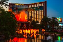 Eruption II (James Marvin Phelps) Tags: night photography volcano neon lasvegas nevada casino mirage lasvegasstrip jamesmarvinphelps eruption jamesmarvinphelpsphotography jmpphotographytreasure islandvolcano