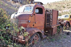 Gold King Mine & Ghost Town (USautos98) Tags: truck dodge 1941 coe cabover