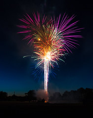 Local Fireworks (Kevin Povenz) Tags: 2016 june kevinpovenz westmichigan michigan wyoming lamarpark fireworks boom loud canon7dmarkii sigma1020 4thofjuly 4th july4th celebration nigh evening longexposure sky smoke