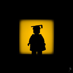 Shadow (200/100) - Graduate (Ballou34) Tags: school light shadow college canon toy toys photography eos rebel blackwhite flickr lego stuck plastic graduate photgraphy minifigure afol 2016 2015 minifigures toyphotography 650d t4i eos650d legography rebelt4i legographer stuckinplastic ballou34 enevucube 100shadows