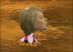 Photo (prankspictures) Tags: animatedgif gold goldmansachs hillaryclinton lol money