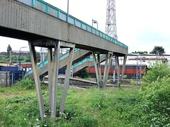 Bescot in 2007 (Paul - Bevan) Tags: abandoned ex water station buildings river concrete track crossing motorway steel south union columns rail railway grand structure signals trent seven sewage land works disused network curve m6 tame beams girders treatment staffs ews sidings i bescot