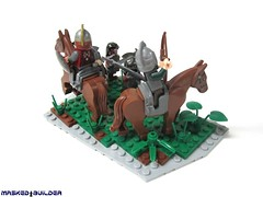 Rohan Attack (Masked Builder) Tags: lego lordoftherings rohan urukhai moc 2013