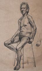 Figure study (SergeyKrylov) Tags: art pencil paper drawing charcoal figure