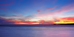 RX1A1371 - Twilight tides (crimsonbelt) Tags: longexposure sunset beach nature clouds thailand twilight education bangkok center bang tides pu