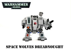 Warhammer 40K Space Wolves Dreadnought (Lego Admiral) Tags: lego warhammer spacemarines warhammer40000 warhammer40k dreadnought spacewolves powerclaw lascannon stormbolter
