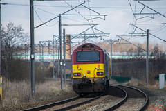 DBS Testing (InterCity Photography) Tags: city test train photography near top no tail rail db class network tnt alistair 67 023 nos 022 intercity inter dbs schenker grimley ews alsager 67022 67023 liveried 05042013