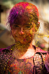 Lil lady! (@rvindiyer) Tags: colors kid chennai holi cwc sowcarpet chennaiweekendclickers
