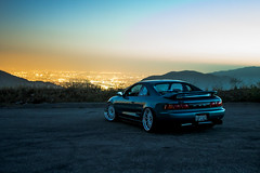 Sunset at GMR (Nigel Adashefski) Tags: california road mountain cars photography perfect automotive southern toyota static society mr2 gerard slammed stance sunest glendora fitment fittedkids