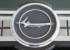 1966 Barracuda Trunk Emblem (Bill Jacomet) Tags: auto show park industry car race silver emblem construction texas sam plymouth houston s 1966 66 trunk formula mopar barracuda 2013