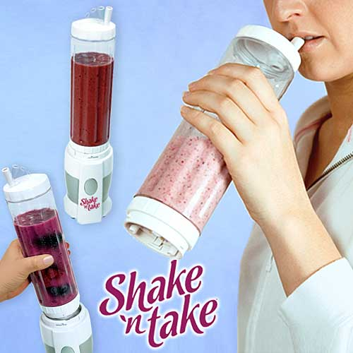 Shake n Take Mini Juice Blender Powerful 180 W Free 2 Smoothie Bottle G0060 Prado2u  (7)