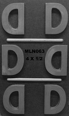 MLN063 (Chocolate Concepts) Tags: d chocolate letters number numbers letter mold