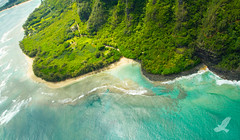 Birds Eye Haena State Beach Kauai (Christian Arballo) Tags: usa beach hawaii paradise snorkel kauai haenabeach hi honu princeville haenastatepark canon7d christianarballo haenaahupaa