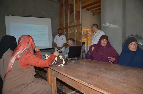 Women retailers at a meeting in Shakshouk, Fayoum, Egypt. Photo by Jens Peter Tang Dalsgaard, 2013.