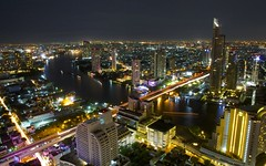 Bangkok (Stephen Walford Photography) Tags: city travel urban skyline night canon river thailand lights asia exposure cityscape bangkok capital aerial 7d