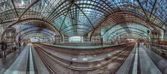 from A to B (CONTROTONO) Tags: panorama berlin station train gallery view stitch pano indoor ceiling dome stitching hdr photomatixpro panoramaview controtono