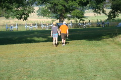 Sharing History (eyriel) Tags: sun history field grass couple walk shade cannon past cannons valleyforgenationalpark