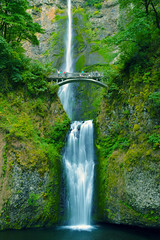 Multnomah_Falls (S E Brendel) Tags: bridge west fall water rain oregon forest river pacific northwest north columbia falls cascades gorge lush multnomah
