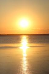 Sun (historygradguy (jobhunting)) Tags: sunset sun reflection water duck nc northcarolina outerbanks obx albemarlesound