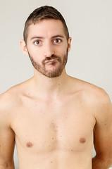 (Damien Cox) Tags: uk shirtless portrait selfportrait man male me self ego myself beard nikon skin body masculine moi scruff stubble i damiencox dcoxphotographycom chesttorso