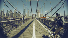 Brooklyn Fisheye (TheDudeWithTheBeard) Tags: city nyc newyorkcity bridge newyork brooklyn lensbaby canon cityscape fisheye brooklynbridge onepointperspective club16