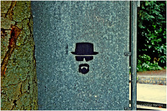 heisenberg (japanese forms) Tags: streetart newmexico tree graffiti stencil bokeh albuquerque boom drugs graff agfa crystalmeth baum heisenberg methamphetamine agfafilm bryancranston walterwhite breakingbad ©japaneseforms2013 couldbeackerbilk