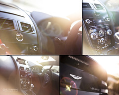 V12 Vantage Details (PGDesigns.co.uk) Tags: light sun black detail canon photography 50mm blog dof panel natural f14 interior automotive flare aston astonmartin vantage v12 6d tych pgdesigns