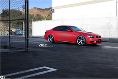 BMW M3 with Concavo CW-5 Matte Grey Machined Face (vibemotorsports) Tags: red cars photoshoot automotive bmw m3 matte concavo goovibe vibemotorsports teamvibe