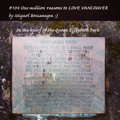| no.104 | | Centuries Rock | (onemillionreasonstolovevancouver) Tags: world city people tourism home promotion vancouver cool realestate profile today cambie queenelizabethpark l4l vancity downtownvancouver metrovancouver onemillion cityofvancouver vancouverite vancouvercity vancouvertourism vancouverrealestate vanone awesomevancouver instaphoto instagood instafollow uploaded:by=flickrmobile flickriosapp:filter=nofilter miguelboccanegra thegreatervancouverarea centuriesrock