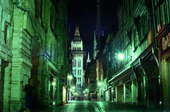 Rouen at night (Roger Blackwell) Tags: film rouen nightphoto filmcamera 1986 colournegativefilm negativecopy