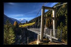 Challenge (Kemoauc) Tags: bridge mountain snow alps austria sterreich nikon gap rope valley gorge alpen height jrg topaz gulch schlucht lech hhenangst hngebrcke photomatix holzgau d300s kemoauc sentko