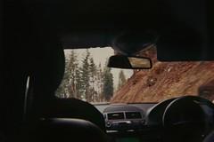 down the mountain (us&them.) Tags: road travel winter mountain snow film car snowboarding switzerland roadtrip adventure exploration disposable sooc