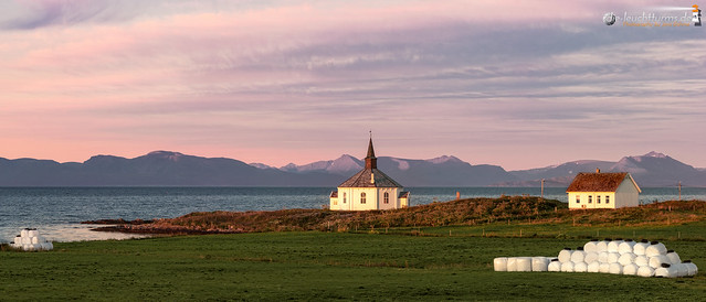 Dverberg chapel in morning colors