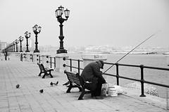 Mare d'Inverno (Federica Signorile) Tags: nuvole mare barche federica inverno lungomare bianco freddo nero bari pescatori signorile
