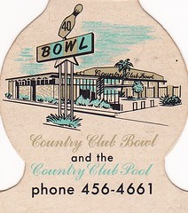 Country Club Bowl San Rafael Matchcover (hmdavid) Tags: california art sign illustration vintage pin north bowl bowling bayarea countryclub sanrafael googie matchbook midcentury matchcover jewelite