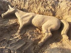 Unicorno spiaggiato