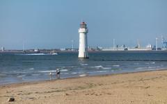 New Brighton beach (lovestruck.) Tags: new blue sea brown lighthouse reflection water sunshine liverpool docks river geotagged sand brighton industrial view mersey sumer merseyside geo:lat=534431113167149 geo:lon=30425477027893066