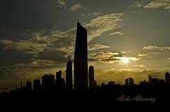 City SunSet (Aisha Altamimy) Tags: sunset sun clouds kuwait kuwaitcity q8 الكويت غيوم الحمرا