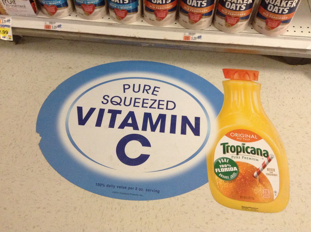 Tropicana Orange Juice Advertising Floor by JeepersMedia, on Flickr