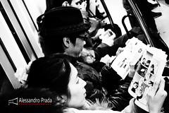 Tokyo Metro I line (bibendum84) Tags: japan underground subway tokyo metro manga olympus read prada giappone alessandro leggere xz1