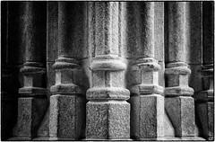 Pillars at Mont Saint-Michel (m.oja) Tags: bw pillars mont saintmichel 450d silverefexpro2